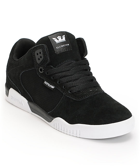 Supra Ellington Black & White Skate Shoes