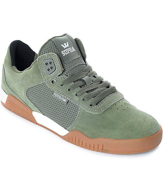 Supra Mens Ellington White Gum Skate Shoes 6L1OPnql