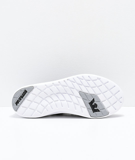 Supra Factor Black, Light Grey & White Shoes