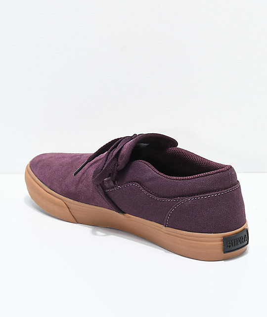 d3d323fd3916 ... Supra Flow Candon Wine   Gum Skate Shoes ...