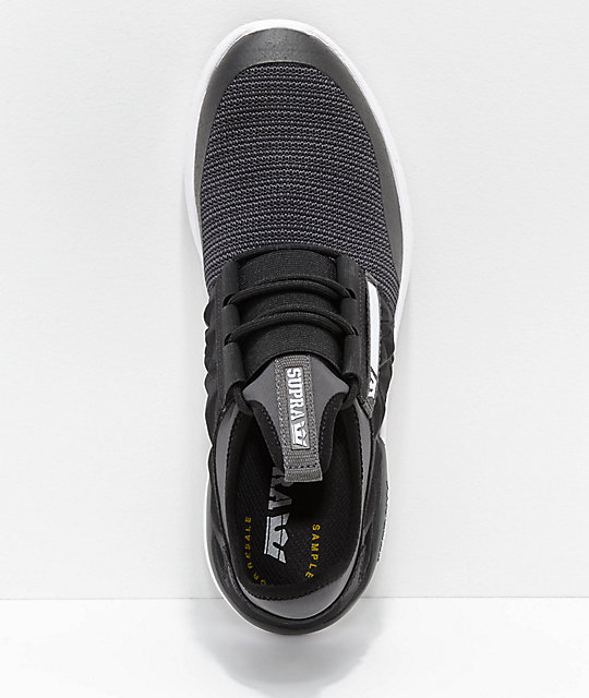 Supra Flow Run EVO Black and White Knit Shoes