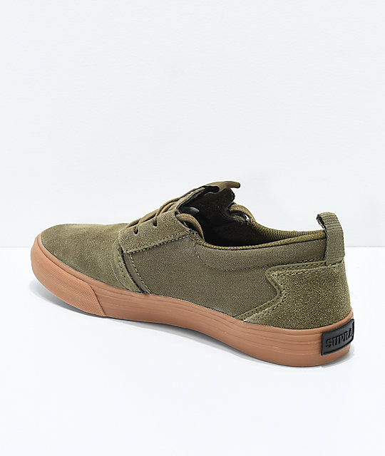 Supra Flow Sascha Olive & Gum Skate Shoes