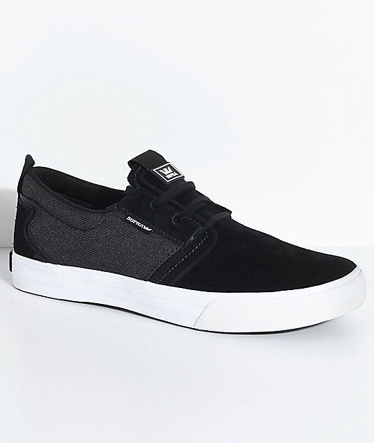 Supra Flow - Zapatillas para hombre, talla 11, color BLACK BLACK DENIM WHITE