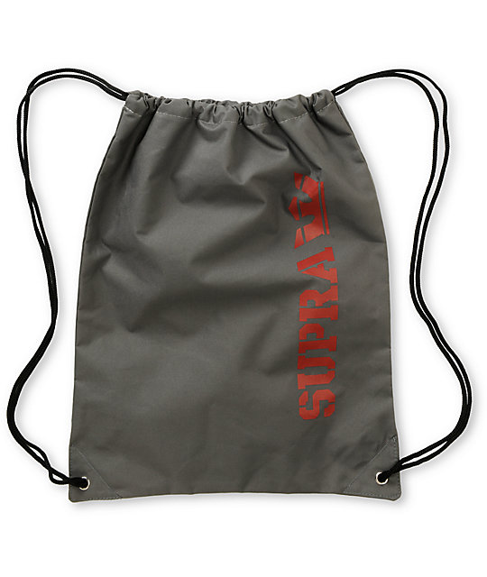 Supra Grey Drawstring Bag