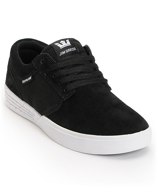 f6dd87336be1 Supra Hammer Black   White Suede Skate Shoes
