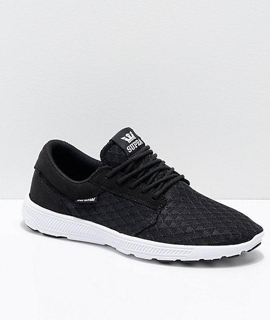Supra Hammer Run Black & White Triangle Mesh Shoes
