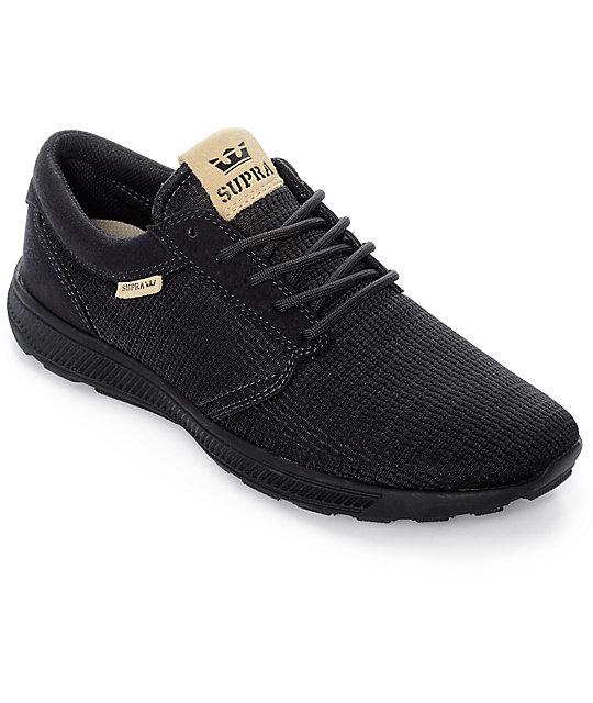 626e683553c Supra Hammer Run Black Mesh Shoes | Zumiez
