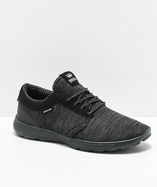 Supra Hammer Run Charcoal & Black Knit Shoes