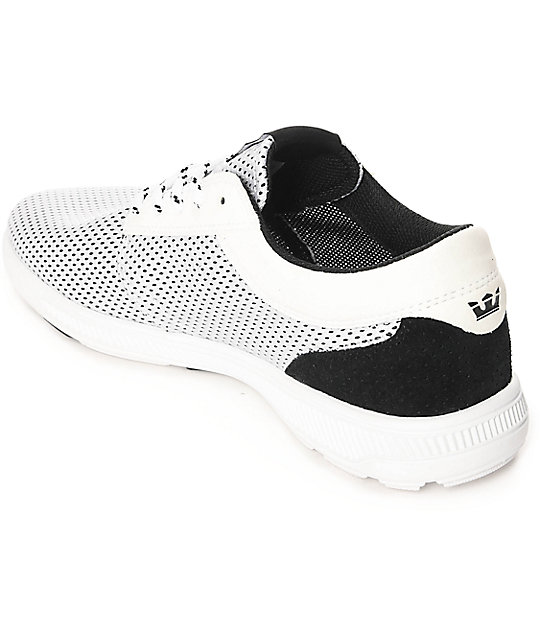 ... Supra Hammer Run White   Black Mesh Shoes ... 2e896b77ce