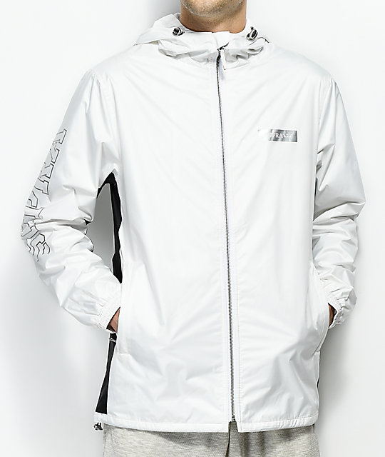 Supra Jammer White Zip Up Windbreaker Jacket