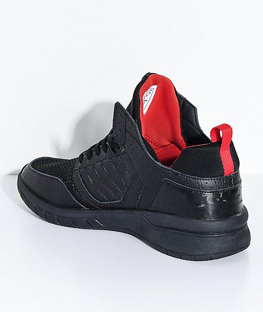 Balance Board Zumiez: Supra Kids Method Black Leather & Mesh Shoes