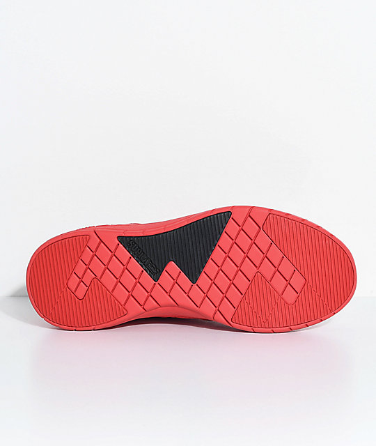 Supra Kids Method Red Leather & Mesh Shoes