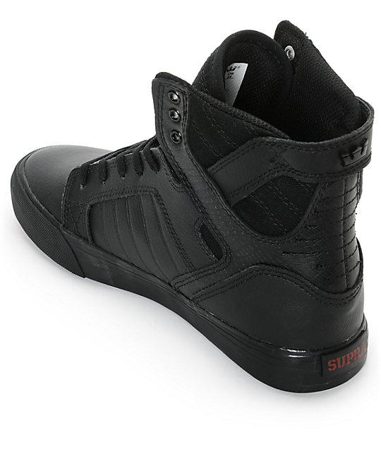 Supra Kids Skytop Red Carpet Tuf Skate Shoes Zumiez