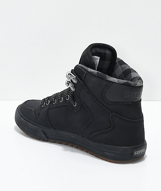 Supra Kids Vaider CW Black & Plaid Shoes