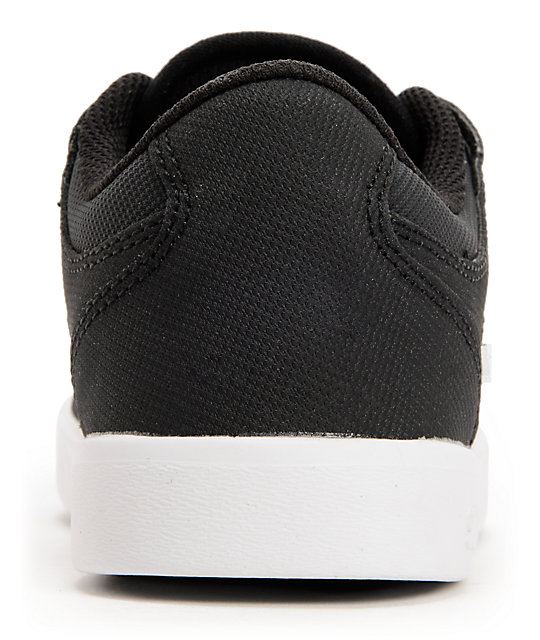 Supra Kids Vaider LC Black & White Tuf Skate Shoes