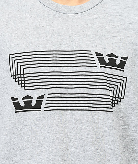 Supra Linked Crown Heather Grey T-Shirt