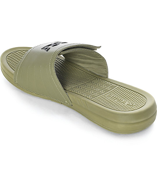 babcc30285bc ... Supra Locker Army Green Leather Sandals ...