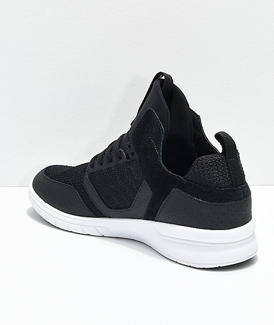 Supra Method Black, White, Nubuck & Mesh Shoes
