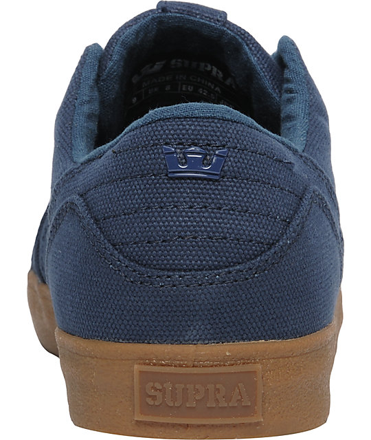 Supra Muska Skylow 1.5 Navy Canvas Shoes