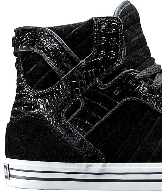 Supra Muska Skytop Black & Croc Shoes