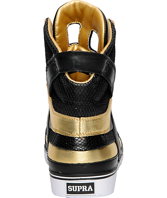 Supra Muska Skytop II Black & Gold Shoes