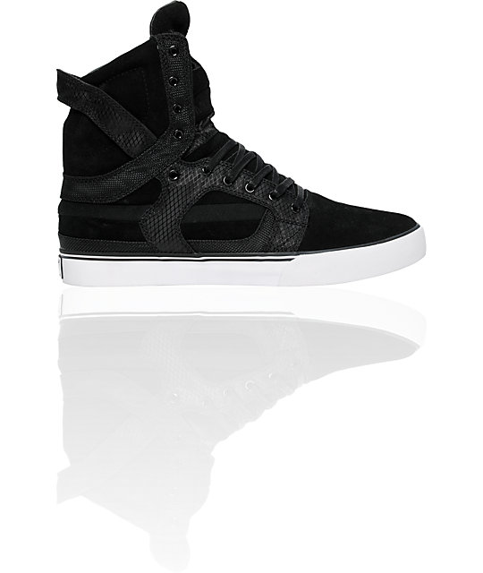 Supra Muska Skytop II Black Suede & Nylon Shoes