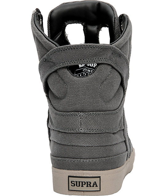 Supra Muska Skytop II Charcoal Grey Canvas Shoes