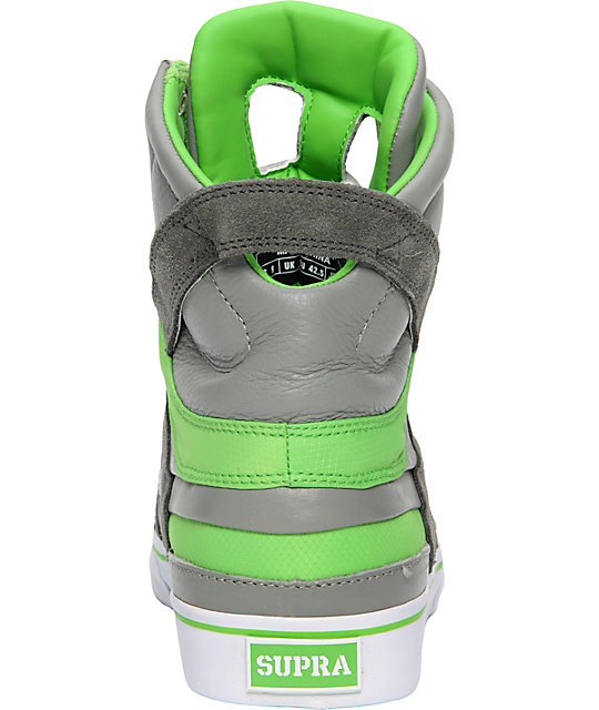 Supra Muska Skytop II Grey & Lime Nylon Shoes