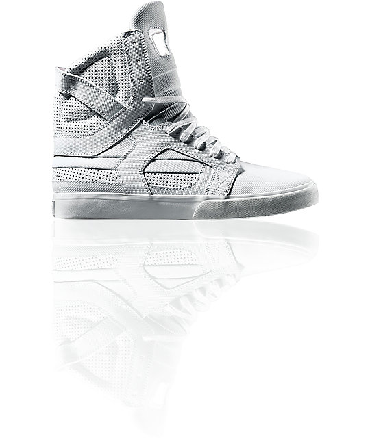 Supra Muska Skytop II Tuf White Shoes