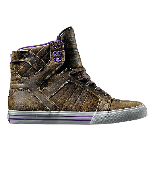 Supra Muska Skytop Kola Brown Shoes  9dace8fa7127