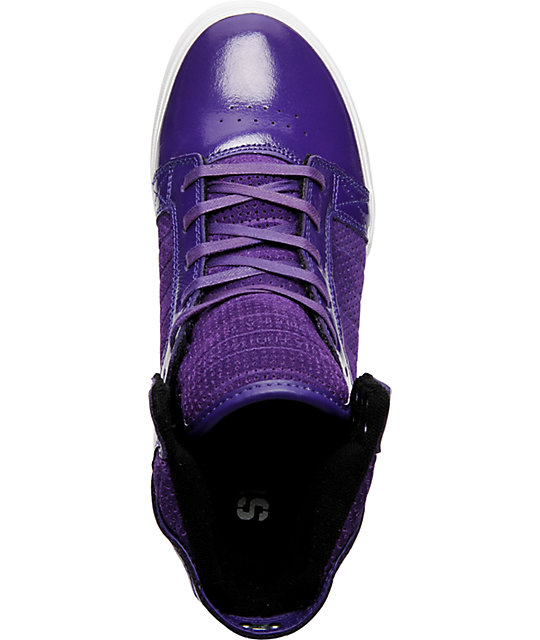 Supra Muska Skytop Purple Patent Shoes