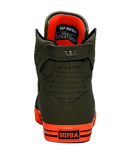 Supra Muska Skytop Tuf Green & Orange Shoes