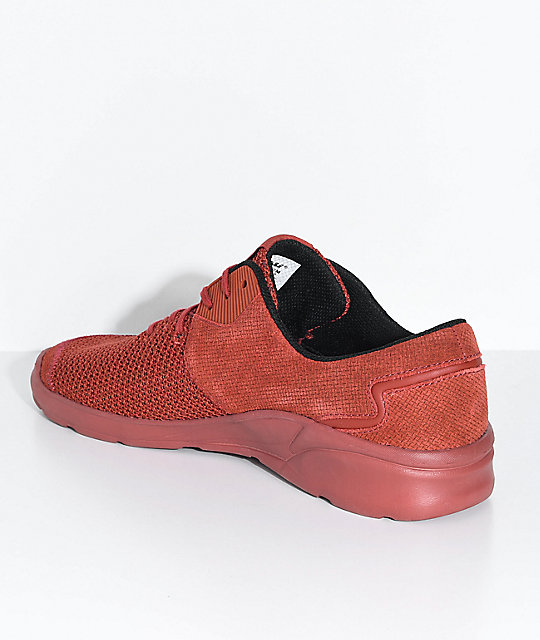 Supra Noiz Cayenne Pepper Suede & Mesh Shoes