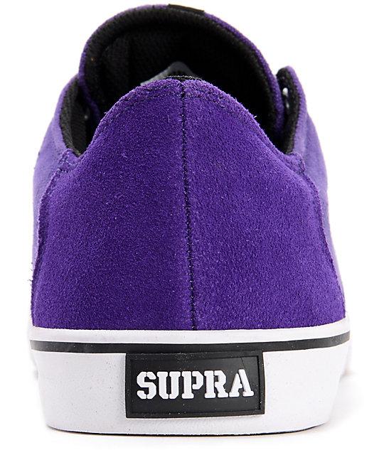 96c55d4162b8 ... Supra Pistol Purple   White Suede Skate Shoes ...