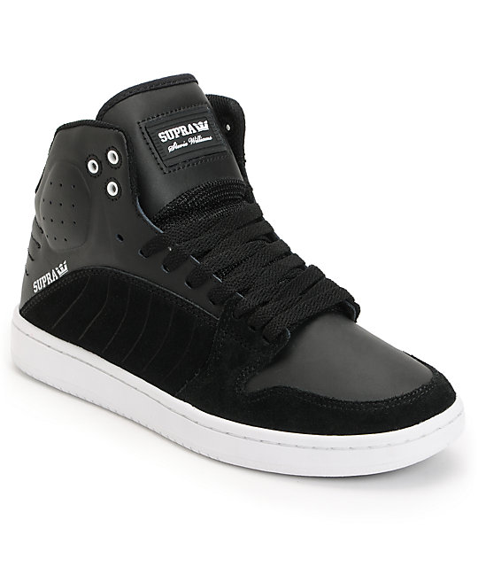 Supra S1W Stevie Williams Black Suede & Leather Skate Shoes