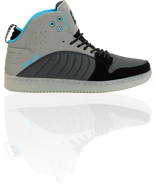 Supra S1W Stevie Williams Grey & Turquoise Mid Top Shoes