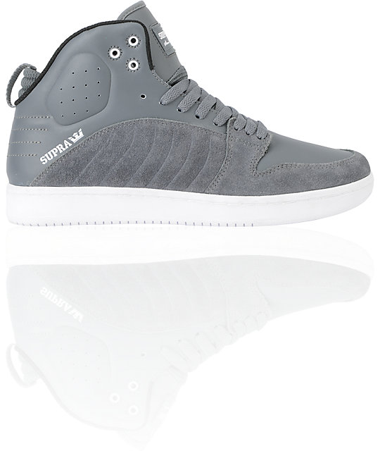 Supra S1W Stevie Williams Grey Suede & Leather Skate Shoes