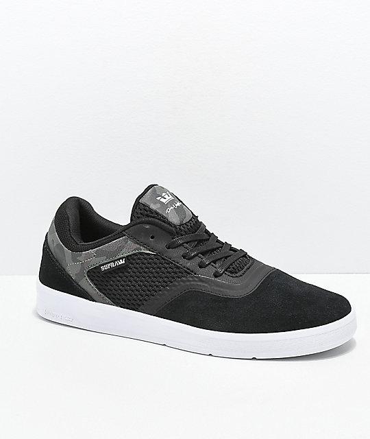 d3e9df8161b Supra Saint Black, White & Camo Skate Shoes | Zumiez