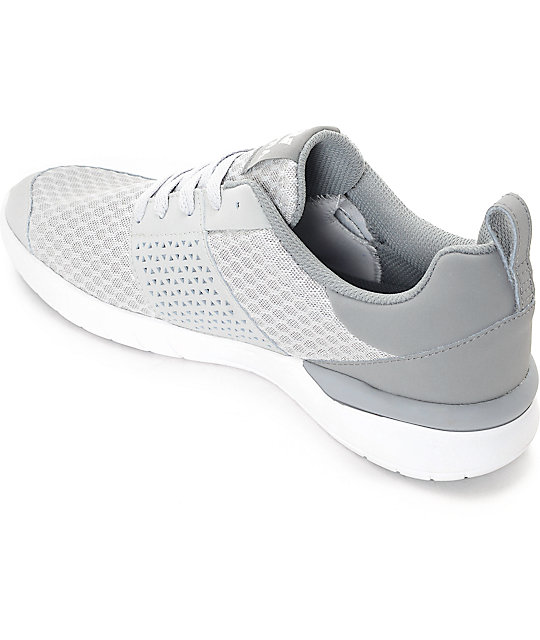 Supra Scissor Light Grey Mesh & Nubuck Shoes