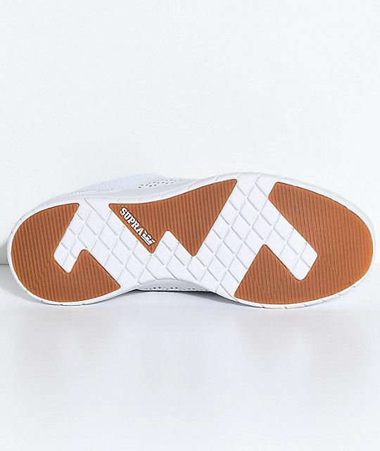 Supra Scissor Zapatos Tejidos En Blanco Zumiez