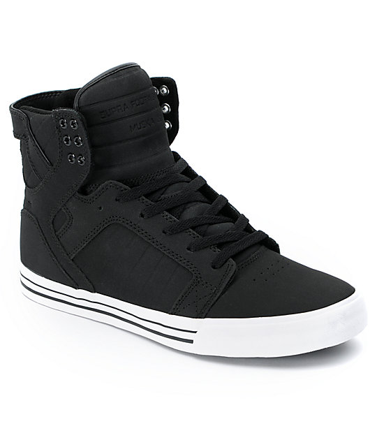 Supra Skytop Black Express Tuf Canvas Skate Shoes