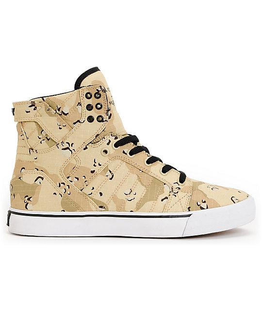 ... Supra Skytop Desert Camo Tuf Skate Shoes b5b73a26a12b