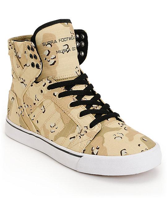 Supra Skytop Desert Camo Tuf Skate Shoes  a920eb92f50a