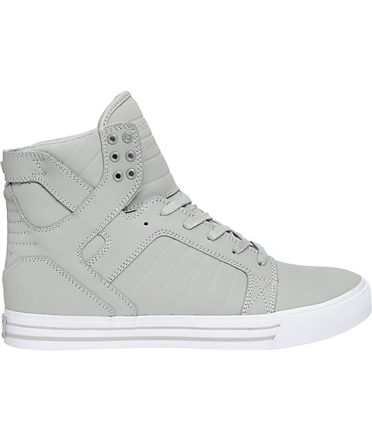 Supra Skytop Grey Express TUF Canvas Skate Shoes