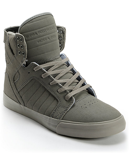 Supra Skytop Grey Gunny Tuf Skate Shoes