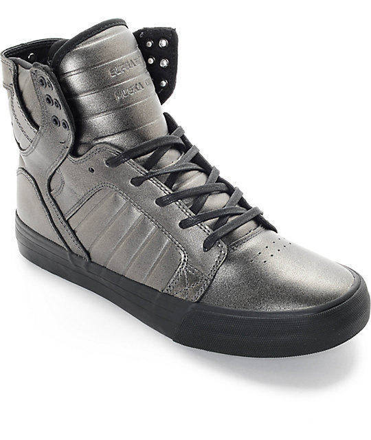 Supra Skytop HF Gunmetal & Black Estate Skate Shoes ...