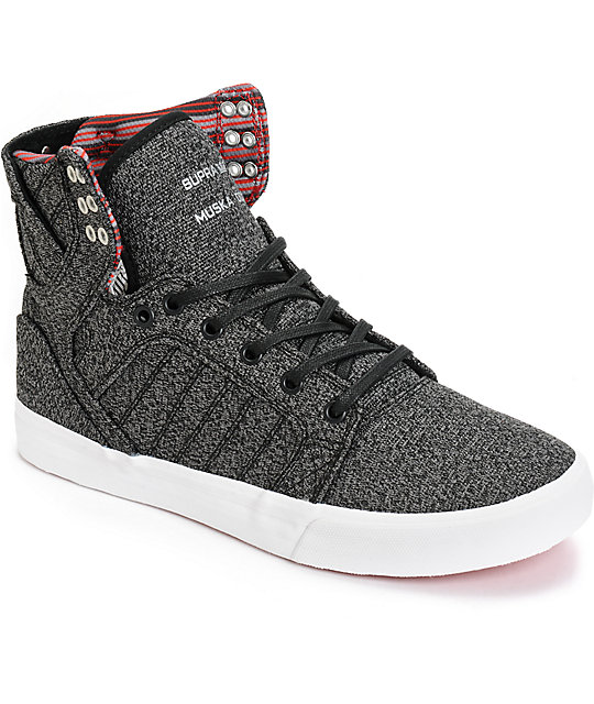 Supra Skytop Heathered Knit Skate Shoes