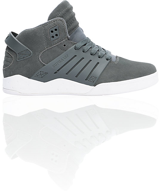 Supra Skytop III Grey Suede Shoes
