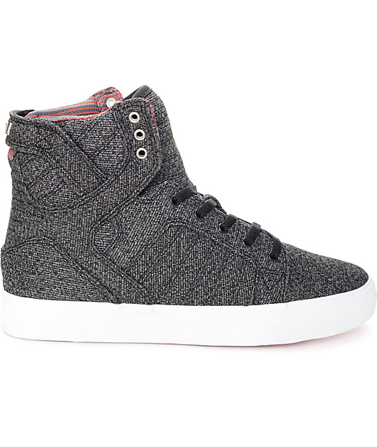 Supra Skytop Microchip Grey Kids Skate Shoes