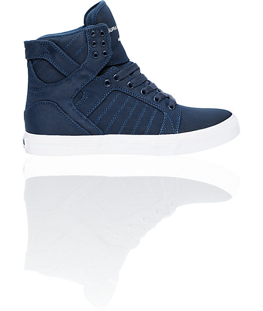 Supra Skytop Navy Express TUF Canvas Skate Shoes